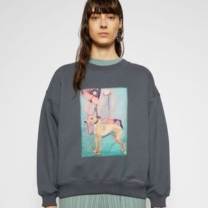 Acne dog patch oversized sweatshirt